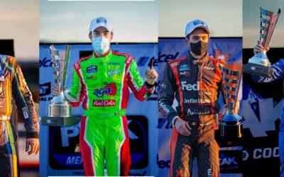 Vencieron el reto del óvalo potosino Nascar Peak México Series