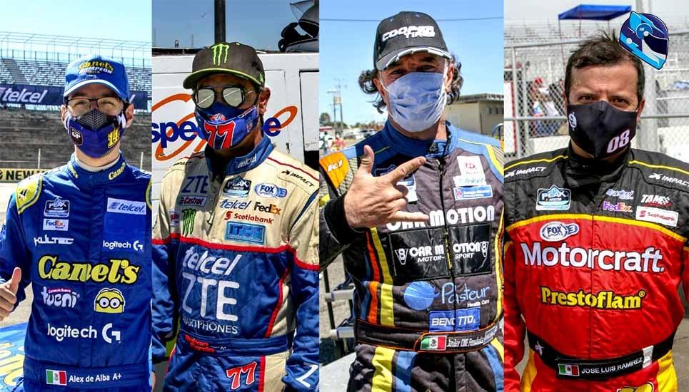 Los pilotos de NASCAR Peak México Series, tomando todas las precauciones de salud para la próxima contienda