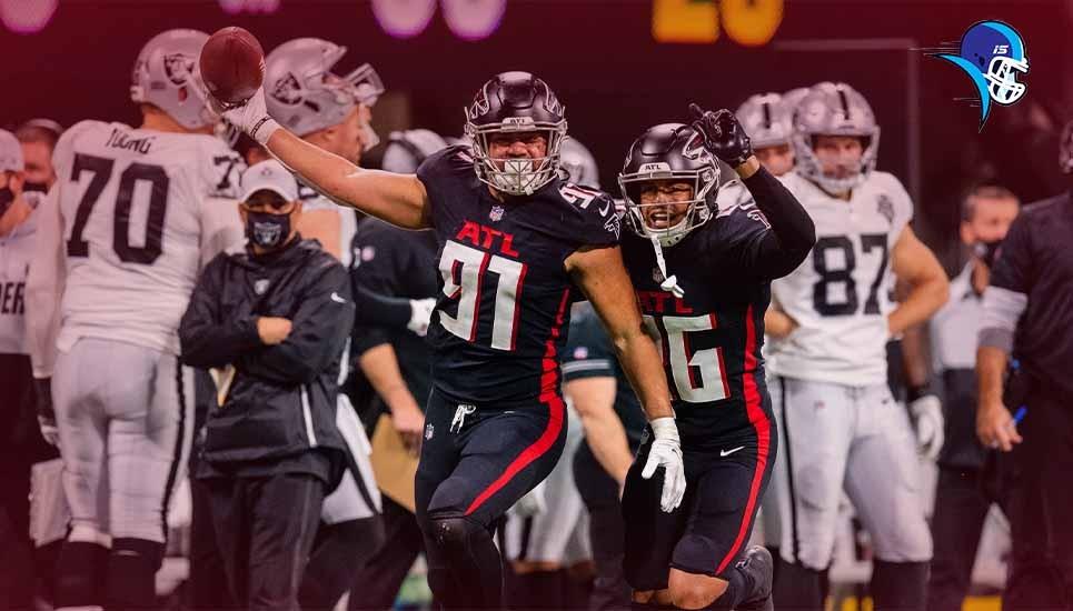 Falcons le dio una paliza a Raiders