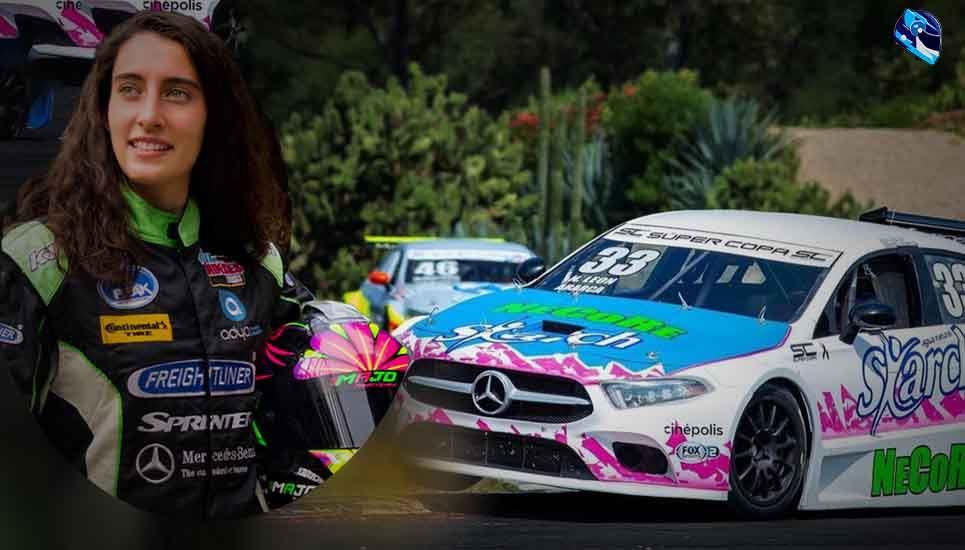 Maria José Rodriguez lista para correr en Mercedes Benz