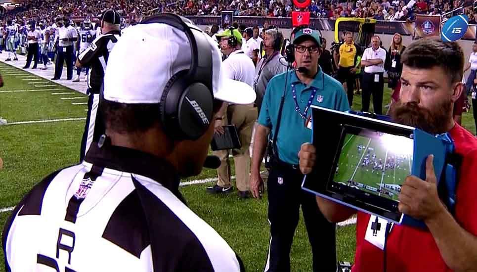 Más repetición Instantánea en la NFL