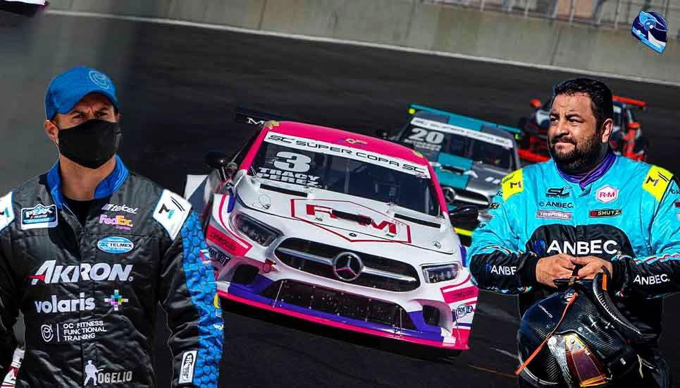 Rogelio Pérez y Rogelio López al volante en el Autódromo de Guadalajara