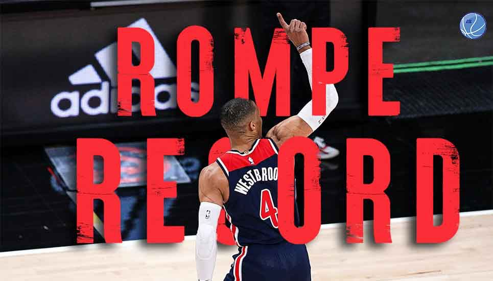 Russell Westbrook sigue rompiendo récords