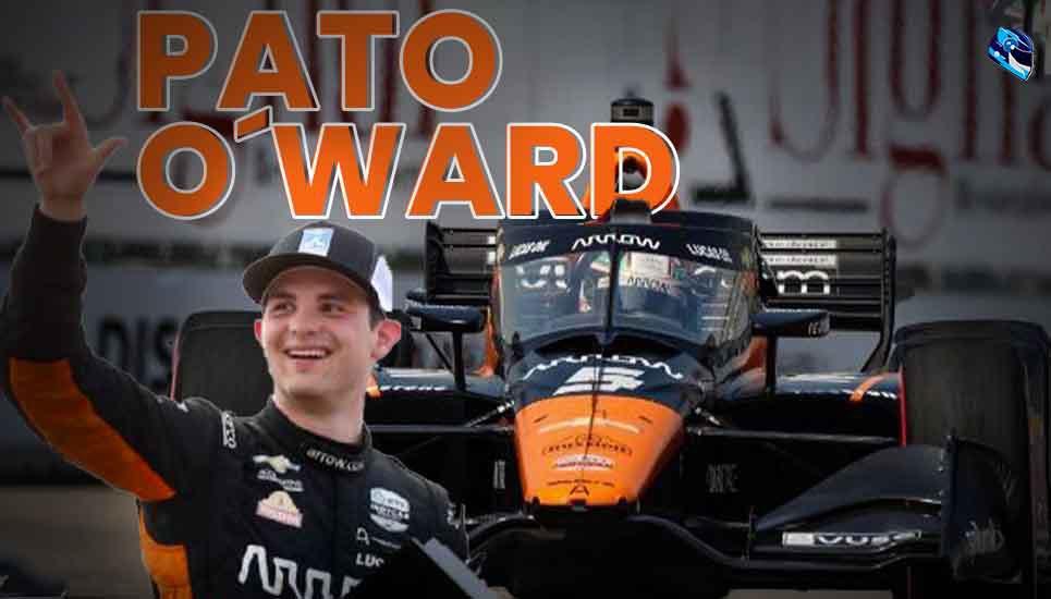 Pato O'Ward se lleva la victoria en la IndyCar Racing